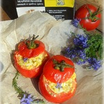 Запеченные помидоры с сырной начинкой