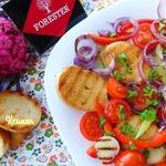 Тосканский салат на гриле