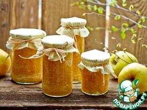 Рецепт: Джем из яблок и апельсинов