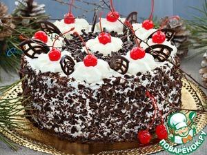 """Рецепт: Шварцвальдский вишневый торт """"Черный лес"""""""