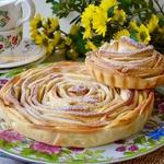 "Яблочный пирог ""Чайная роза"""