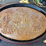Пирог ржаной с сельдью и черносливом