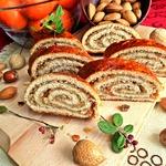 Венгерский рулет с орехами