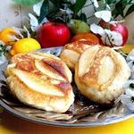 Яблочные оладьи с грушевым припеком