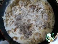 Шампиньоны со сливками на сковороде пошаговый рецепт