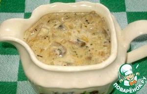 грибной соус из шампиньонов со сливками рецепт с фото