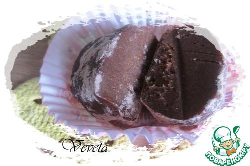 """Шоколадное пирожное """"Картошка"""" с халвой"""
