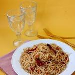 Спагетти с тыквой и томатами