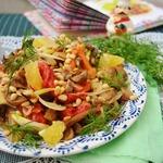 Грибной салат со сладким перцем