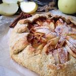 Постная овсяная галета с яблоками