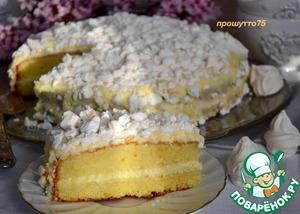 "Рецепт: Торт лимонный ""Меренгата"""