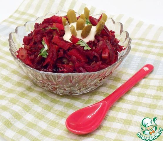Салаты из маринованной свеклы рецепты с