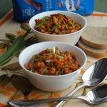 Перловка с овощами в томатном соусе