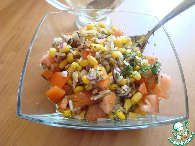 креветки рис ....... салат с креветками