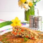 Быстрый закусочный пирог с гречкой