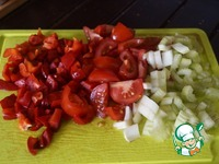 Рыба, запеченная с рисом и овощами ингредиенты