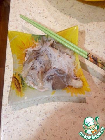 Салат с кальмарами и грибами рецепты с фото на