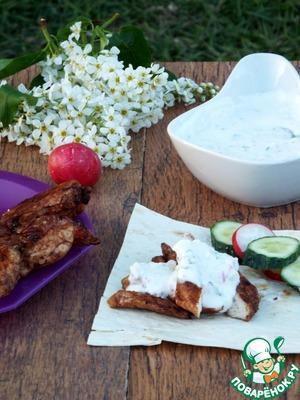 """Рецепт: Курица """"Мулатка"""" с йогуртовым соусом"""