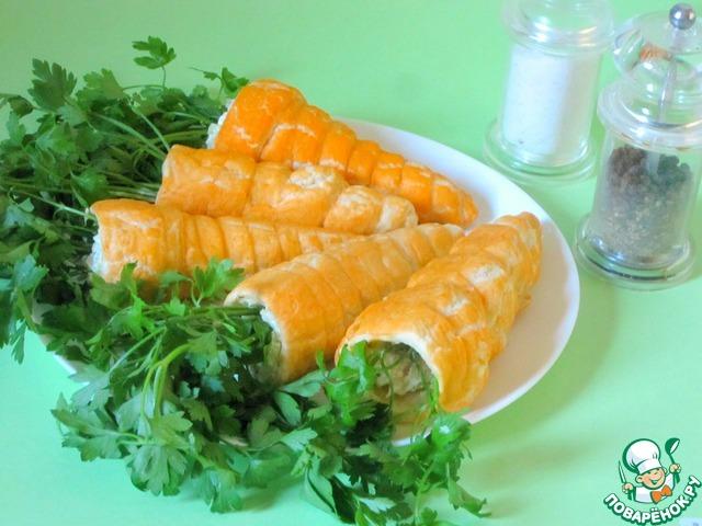 Салат морковка из теста рецепт
