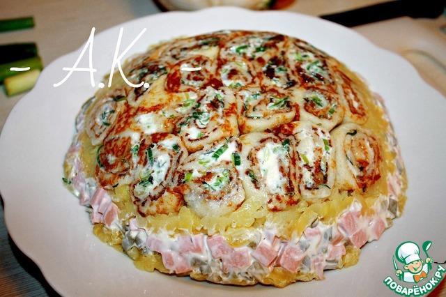 Салат клумба пошаговый рецепт с фото