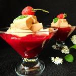 Желейный десерт с шоколадным йогуртом