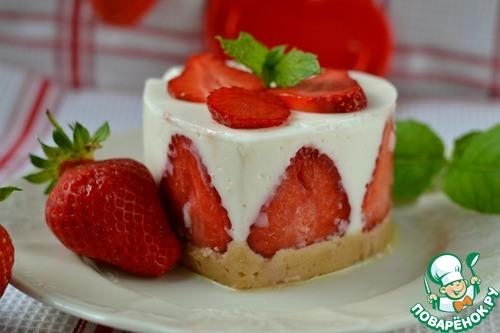 Десерт клубнично-творожный