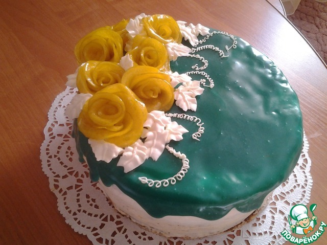 Торт с цветной глазурью рецепт пошагово 137