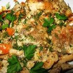 Рыба с грибами в сметанном соусе