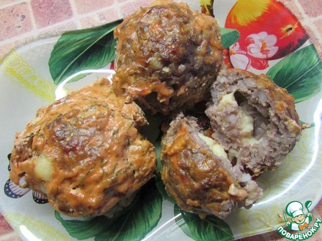 Мясные ёжики в сметанном соусе  кулинарный рецепт