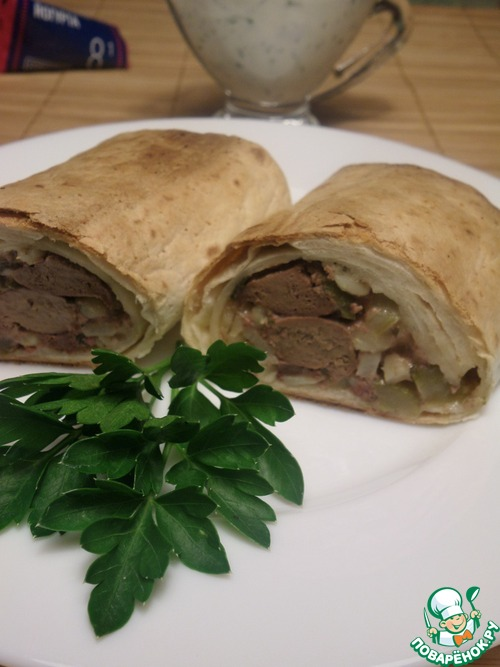 Тортилья с начинкой рецепт с пошагово