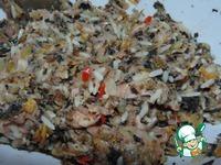 Кабачки, фаршированные рисом, грибами и мясом ингредиенты