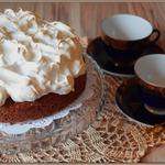 """Орехово-кофейный пирог """"Чёрное и белое"""""""