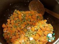 Морковь с горохом в белом соусе ингредиенты