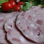 Вареная колбаса с языком