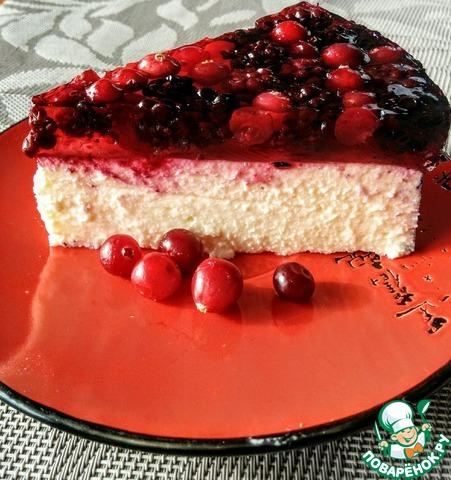Чизкейк из творожно ягодный рецепт