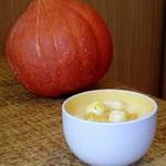 Густой тыквенный суп с фрикадельками