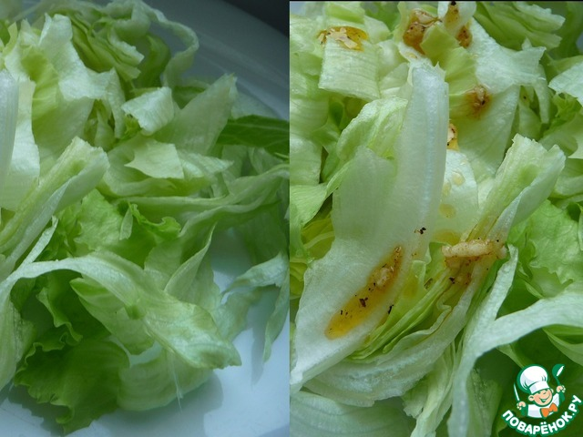 Салат кукуруза курица айсберг