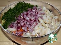 """Салат со свеклой и рыбой """"Зимний"""" ингредиенты"""