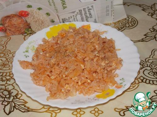 блюдо из риса капусты и фарша