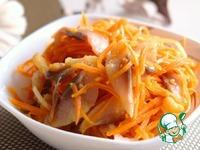 Острый салат с сельдью ингредиенты