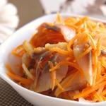 Острый салат с сельдью