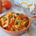Тёплый рисовый салат в мексиканском стиле
