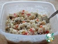 Салат с мидиями под сырной паутинкой ингредиенты