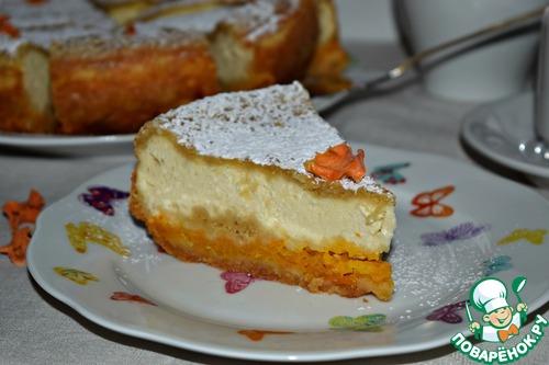 Пирог из тыквы с творогом рецепт 2
