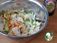 Корейский салат из курицы и огурцов ингредиенты