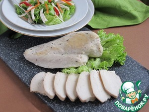Chicken meat for salads