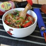 Тушеная курица с овощами Дакжим