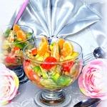 Десерт с рисом и фруктами
