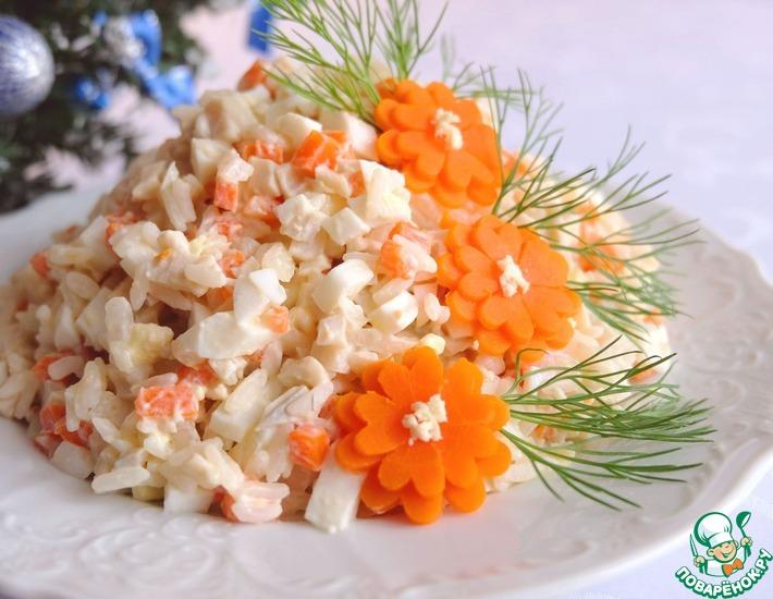 Салат с кальмарами поваренок