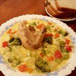 Суп куриный со сливками